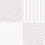 Seamless neutral background patterns stone and white Stock Photo