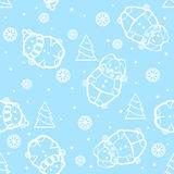 Seamless New Year. Seamless background for New Year and Christmas Royalty Free Stock Images