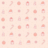 Seamless  new year pattern Stock Images