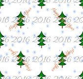 Seamless new year pattern. New holiday Stock Image