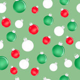 Seamless New Year pattern. Seamless pattern with New Year toys Stock Photo