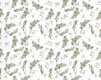 Seamless New Year pattern in vector royalty free illustration