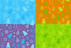 Seamless New Year's background Royalty Free Stock Photos
