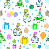 Seamless New Year's Christmas texture Royalty Free Stock Photography