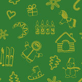 Seamless new year's green background Royalty Free Stock Images