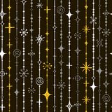Seamless New Year`s pattern from beads and snowflakes Royalty Free Stock Photos