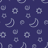 Seamless night sky Royalty Free Stock Image