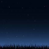 Seamless night sky and grass Royalty Free Stock Image