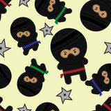 Seamless Ninja Tile vector illustration