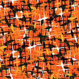 Seamless non combat camouflage background in fall colors orange Stock Images