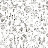 Seamless nordic floral pattern Stock Images