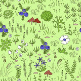 Seamless nordic floral pattern Royalty Free Stock Images