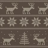 Seamless nordic scandinavian jumper knit. Pattern Royalty Free Stock Photography