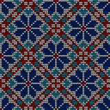 Seamless norwegian embroidered winter pattern Royalty Free Stock Image