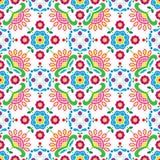Seamless Norwegian traditional folk art Bunad pattern - Rosemaling style embroidery Royalty Free Stock Photo
