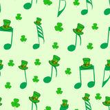 Seamless notes of Saint Patrick Royalty Free Stock Image