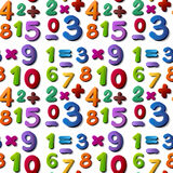 Seamless numbers Stock Image