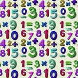 Seamless numbers. Illustration of a seamless numbers and equations Stock Photography