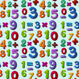 Seamless numbers Royalty Free Stock Photo