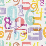 Seamless numbers pattern Stock Photography
