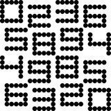 Seamless Numeric Pattern Stock Images