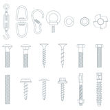 Seamless nuts and bolts Royalty Free Stock Photography