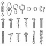 Seamless nuts and bolts Stock Photos