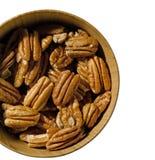 seamless nuts pecannöt för bakgrundsillustration Royaltyfri Fotografi