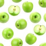 seamless ny grön modell för äpplen Arkivfoto