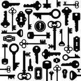 Seamless nyckel- mönstrar royaltyfri illustrationer
