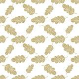 Seamless oak leaves background Stock Image