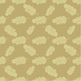 Seamless oak leaves background Royalty Free Stock Images