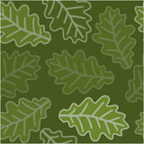 Seamless oak leaves pattern Royalty Free Stock Image