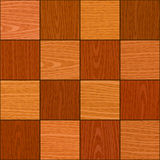 Seamless oak square chess like parquet texture Stock Photo