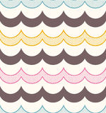 Seamless ocean wave fabric background Royalty Free Stock Images