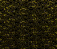 Seamless ocean wave pattern Royalty Free Stock Images