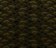 Seamless ocean wave pattern stock illustration