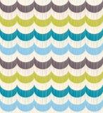 Seamless ocean wave pattern. Seamless ocean wave scribble texture pattern Vector Illustration