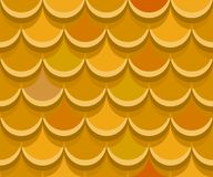 Seamless ocher clay roof tiles. Vector pattern vector illustration