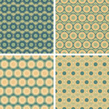 Seamless octagon pattern set. Seamless colored octagon pattern set Royalty Free Stock Image