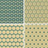 Seamless octagon pattern set Royalty Free Stock Image