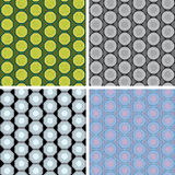 Seamless octagon pattern set Stock Photography