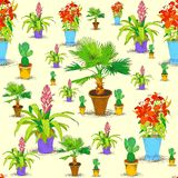 Seamless office flowers pattern Stock Photography