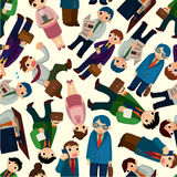 Seamless office worker pattern Stock Photos