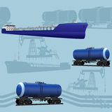 Seamless oil transportation Stock Photography