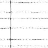 Seamless old black barbed wire isolated on white Royalty Free Stock Images