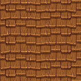 Seamless Old brown Wood Roof Tiles Royalty Free Stock Image