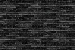 Seamless old dark black brick wal infinityl texture background stock image