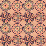 Seamless old-fashioned pattern of the decorative c Stock Photos