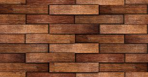 Seamless old oak wall texture Stock Image